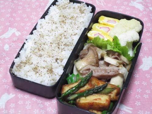 韓国料理サランヘヨ♪ I Love Korean Food-アスパラと揚げ豆腐とジョリム