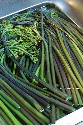 旬菜料理家 伯母直美  野菜の収穫体験ができる料理教室 暮らしのRecipe-わらびさらし