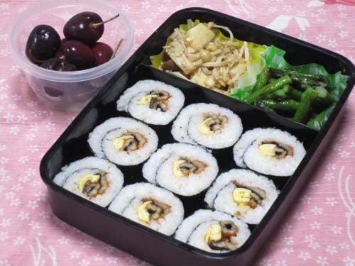 韓国料理サランヘヨ♪ I Love Korean Food-穴子と卵焼きの韓国のり巻き(キンパ)