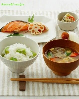 旬菜料理家 伯母直美  野菜の収穫体験ができる料理教室 暮らしのRecipe-朝:和食
