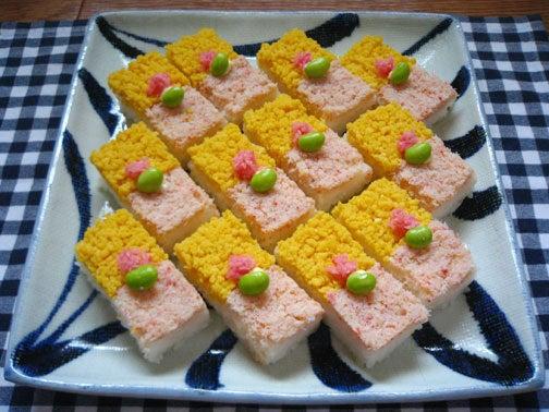 ひよこ食堂-かにの押し寿司01