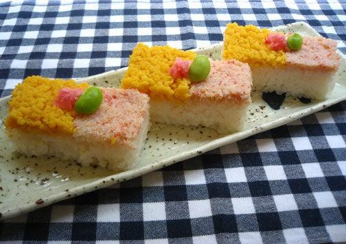 ひよこ食堂-かにの押し寿司02