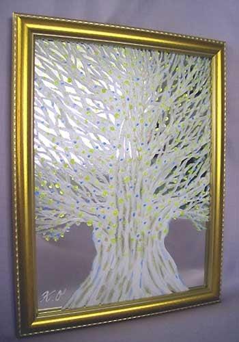 $スピリチュアルアート ヒーリングアート絵画 動画 岡田和樹 癒しの絵 癒しの言葉 癒しの音楽-神聖愛光樹 スピリチュアルアート 木の絵