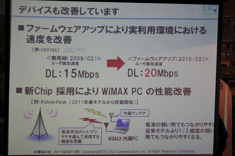 NEC特選街情報 NX-Station Blog-デバイスも改善しています WiMAX
