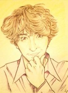 しんご王子の『君の瞳にうつった王子に乾杯☆』-黒田勇樹さんの似顔絵
