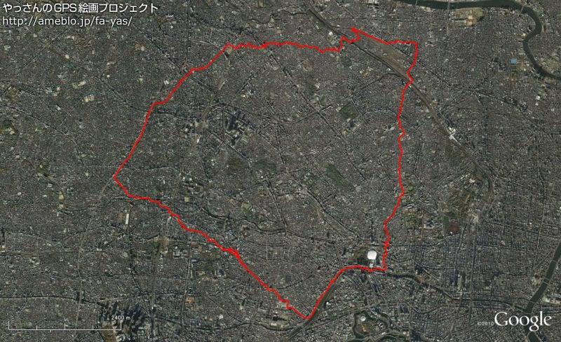 やっさんのGPS絵画プロジェクト -Yassan's GPS Drawing Project--GPS進捗110619