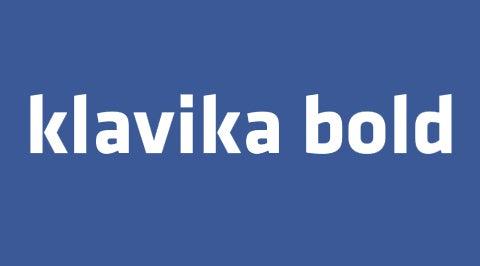Klavika Bold Font