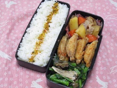 韓国料理サランヘヨ♪ I Love Korean Food-小松菜と舞茸のナムル