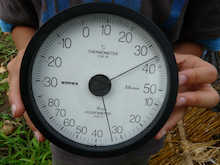 かもの子農園でボランティアしよう♪-外の温度