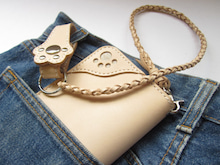 OXIO-CRAFT(オキクラ)の「革雑貨」製作日記-ロープ付き肉球♪ロングウォレット