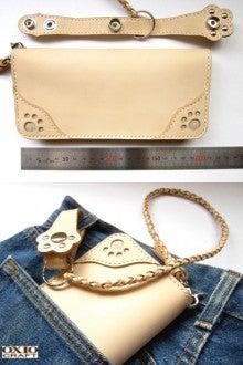 OXIO-CRAFT(オキクラ)の「革雑貨」製作日記-ロープ付きロングウォレット