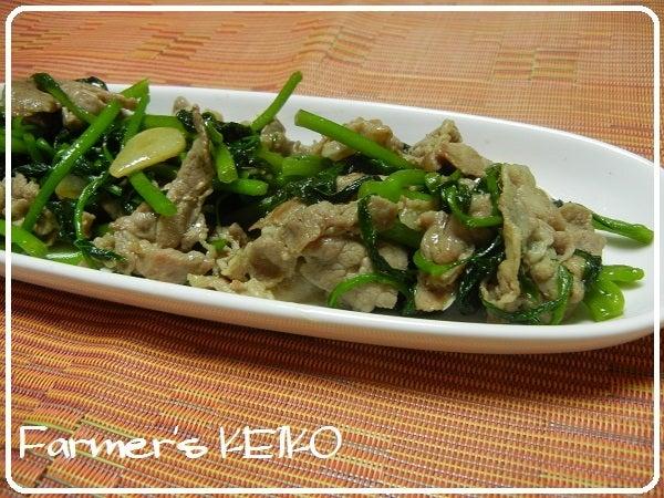 健康野菜『ツルムラサキ』のレシピ|Farmers KEIKO オフィシャルブログ「Farmers KEIKO 農家の台所」Powered by Ameba