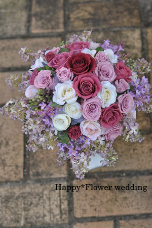 $Happy*Flower wedding-ライラックのブーケ