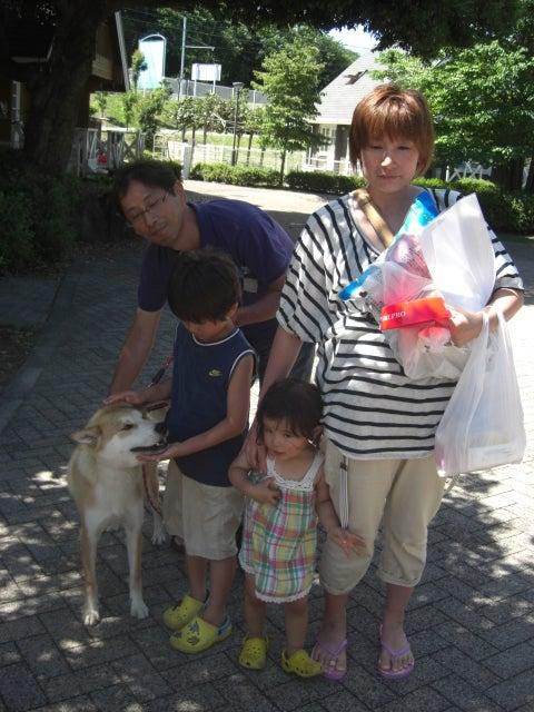 東北動物レスキュー 長崎の保健所の命を救う会の代表のブログ-ヤックルの仮譲渡を里親予定者さんに行いました ♪
