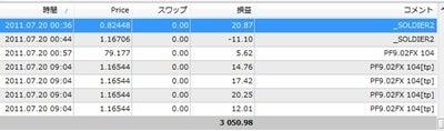 FXあきの楽楽FX自動売買実践記録!(為替初心者向け)-110720sei