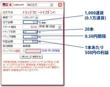 FXトラリピ1日10分だけの楽々設定・検証ブログ-トラリピ注文