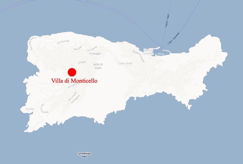 【彼女の恋した南イタリア】 - diario  イタリアリゾート最新情報    -Villa di Monticello の場所