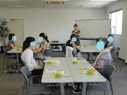 大阪 北摂 プリザーブドフラワー教室~アクアリリー~