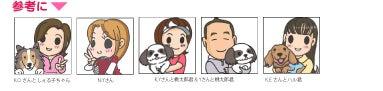 4コマ漫画~独断と偏見の旦那と犬の愛し方-イラスト引き受け画面参考アイコン01