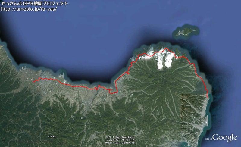 やっさんのGPS絵画プロジェクト -Yassan's GPS Drawing Project--GPS進捗110816