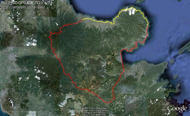 やっさんのGPS絵画プロジェクト -Yassan's GPS Drawing Project--GPS進捗110817