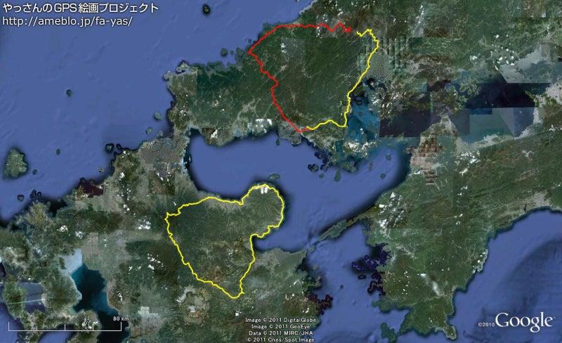 やっさんのGPS絵画プロジェクト -Yassan's GPS Drawing Project--GPS進捗110819