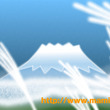 新しい風水絵「富士山…