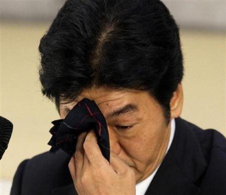 気になるあの言葉・あのニュース!大辞典-島田紳助 引退記者会見で涙2