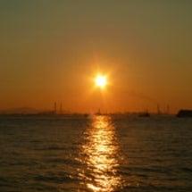 きれいな夕日でした。