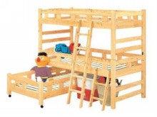 木工所のブログ-国産 ヒノキ 3段ベッド