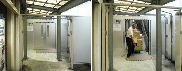 新宿御苑前 403新宿ギャラリースタッフ日記-電気の要らない自動ドア。工場