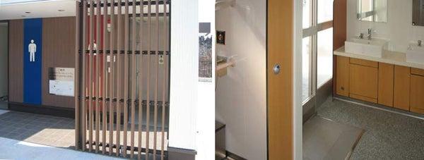 新宿御苑前 403新宿ギャラリースタッフ日記-電気の要らない自動ドア。トイレ