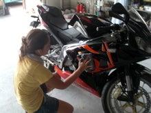 京都の女職人が書く車のブログ☆★-バイクコーティング