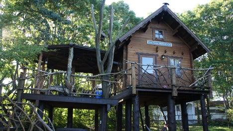 初めてのオートキャンプ!子供と一緒にキャンプに行こう!-北軽井沢スイートグラス流しツリーハウス