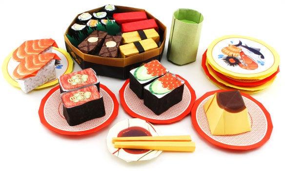 すべての折り紙 折り紙 食べ物 : 折り紙寿司|ヤーン ...
