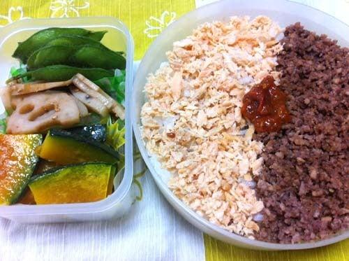 韓国料理研究家・ほんだともみのコリアンワールド-鮭と挽肉のビビンバ