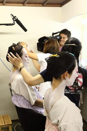 京都舞妓体験処『心』 スタッフブログ-テレビ熊本舞妓体験