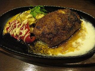 晴れのち曇り時々Ameブロ-つくね肉のハンバーグステーキ