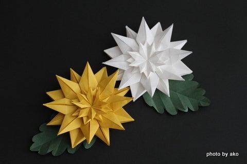 クリスマス 折り紙 折り紙 菊 : ameblo.jp