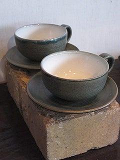 晴れのち曇り時々Ameブロ-八戸焼(コーヒーカップ)