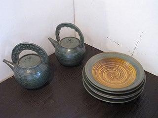 晴れのち曇り時々Ameブロ-八戸焼(茶器)