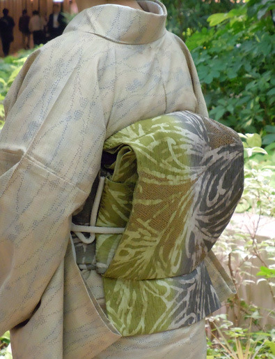 $Yukoのハンドメイド+着物雑記-岡山工芸ろうけつ染めの帯(お太鼓)