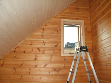 自然塗料で木部塗装を…NaturalPaint-HONKA Log Home reform 7