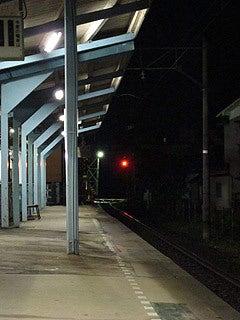 晴れのち曇り時々Ameブロ-花水坂駅のホームにて
