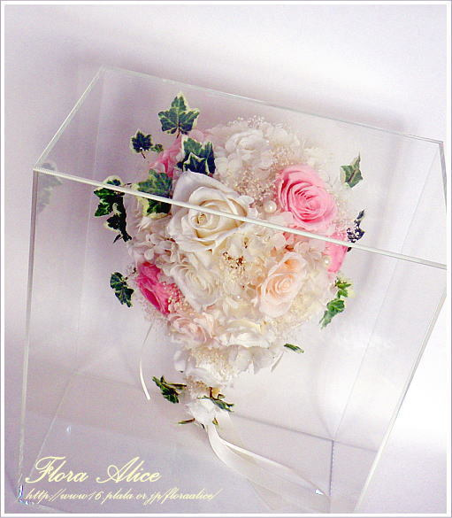 不思議な花のアリスのプリザーブドフラワーギャラリー-ブーケ用アクリルボックス
