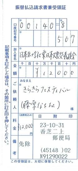 きらきらフェスティバル-東日本大震災義援金