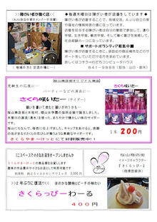 $駄菓子カフェ&木祖村アンテナショップ さくらやま~けっと 公式ブログ-ちらしうら