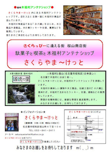 $駄菓子カフェ&木祖村アンテナショップ さくらやま~けっと 公式ブログ-ちらしおもて