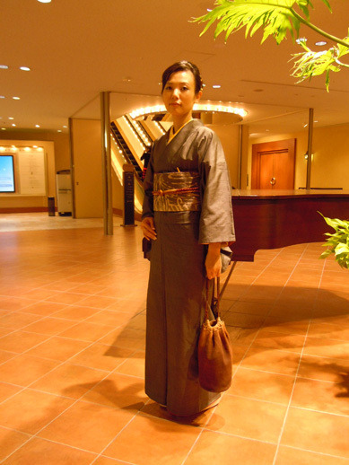 $Yukoのハンドメイド+着物雑記-男物大島紬で前夜祭