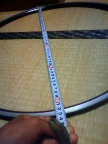 $東員自転車工房の作業日誌-リム外径測定
